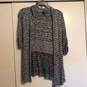 Black and white heather cardigan